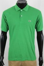 Vintage Chemise Lacoste Mens Solid Green Short Sleeve Mesh Polo Shirt sz Medium