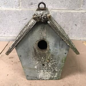 Old Folk Art wooden handmade BIRD HOUSE weathered