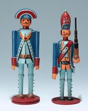 Paar Spielzeug Soldaten aus bemaltem Holz - Mitte 20. Jh.