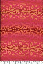 Shangri-La Pink Filigree Quilt Fabric - Free Shipping - 1 Yard
