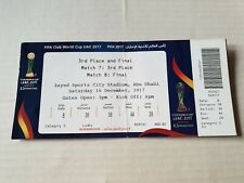 Used Sammler Ticket FIFA Club World Cup 2017 Final Real Madrid vs Gremio PA