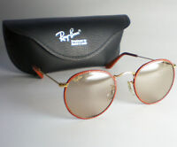 Vintage Ray Ban B&L USA ROUND LEATHERS CHANGEABLES Sunglasses gold john lennon