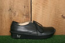 ALEGRIA 'Bree' Black Leather Oxfords Comfort Shoes EUR 37 | Approx. US 7
