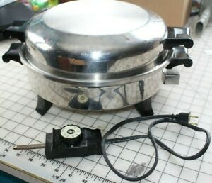 """Regal Ware SOCIETY 7253 Electric Stainless Steel Liquid OIL CORE SKILLET PAN 12"""""""