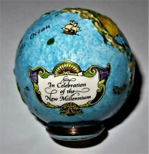HALCYON DAYS ENAMEL BOX - WORLD GLOBE 2000 BONBONNIERE - NEW MILLENNIUM - #3815