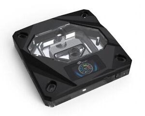 Bykski CPU-FIRE-ON-I CPU Water Cooling Block w/ Temp Digital Display - Black ...