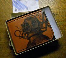 BACKERTON Handmade Leather Wallet Diver / Octopus Theme NOS