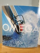 Omega Watch Dealers America's Cup Curved Perspex Shop Display Picture - STUNNING