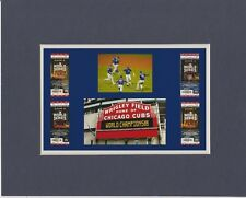 CHICAGO CUBS WIN WORLD SERIES MATTED PIC OF CHAMPIONS WORLD SERIES TIX/CELEBRATI