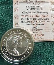 Slave Queen BU #6  - 1 oz 2017 Grateful Death BU Silver Shield 3460 Minted 999