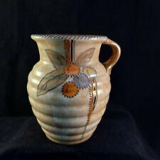 More details for art deco charlotte rhead crown ducal fruit & stitch jug free p&p