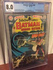 BATMAN Detective Comics #400 CGC WHITE Pages 8.0 1970 1st Appearance Of MAN-BAT