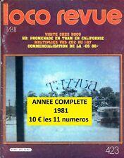 LOCO REVUE - Année complete 1981 - n° 423 à 433 (Chemin de fer miniature)