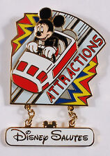 Disney Pin: WDW Disney Salutes - Attractions Cast Exclusive