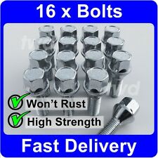 16 x ALLOY WHEEL BOLTS FOR BMW 3-SERIES E21 E30 E36 E46 E90 (M12x1.5) NUTS [H40]