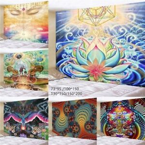 Hippie Indian Mandala Tapestry Psychedelic Wall Hanging Tapestries Home Decor