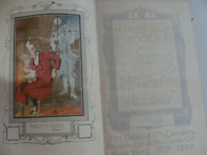 1899 Charles Dickens Christmas Books & Stories Vol 1 Frontispiece Marley's Ghost
