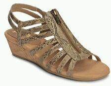 A2 by Aerosoles Womens Yetaway Zip-Front Gladiator Sandals Tan Women's Size 12W