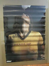 Vintage HEADS UP Soccer Car Garage poster man cave hot girl 1979 3289