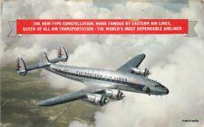 1951 Lockheed Constellation Eastern Airline Advertising Postcard 9020x