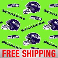"Fleece Fabric Seattle Seahawks NFL Anti Pill 60"" Wide Free Shipping SEA-6711"
