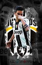 Poster A3 Juventus Turin Paulo Dybala Vecchia Signora Scudetto Urbino 07