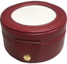 Needlepoint LEE Gift Box LEATHER Dark Fuchsia