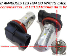 KIT 2 AMPOULE LED HB4 9006 30 WATT XENON 6000K : 6 LED SAMSUNG - ANTI BROUILLARD