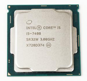 Intel Core i5-7400 3.0GHz Quad Core LGA1151 6MB Desktop CPU SR32W *TESTED*