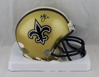Marshon Lattimore Autographed New Orleans Saints Mini Helmet- JSA W Auth *Blk