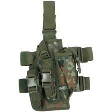 MILITARY TACTICAL LEG HOLSTER 3 MAG POUCHES AIRSOFT ARMY GERMAN FLECKTARN CAMO