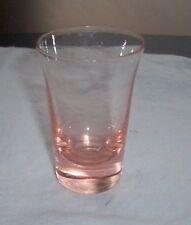 PINK SHOT GLASS OR TOOTHPICK HOLDER OSAKA GLASS WARES JAPAN