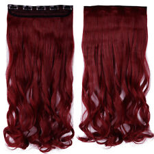 Long 100% Natural Clip in Hair Extension Half Full Head with 10% human hair lkkb