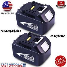 2X 4.5AH 18Volt Battery For Makita BL1845 BL1830 BL1815 LXT Lithium Ion Cordless