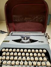 Vintage RoyaLite Typewriter Portable Royal Lite Gray with Original Case
