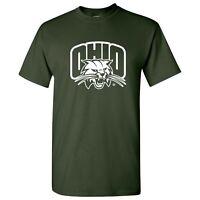 Ohio University Bobcats Arch Logo Licensed Unisex Tee - Forest