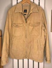 GAP Jacket Beige Cord Corduroy Fleece Lined Pockets M