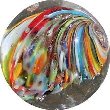 Quality Marbles - Keith Baker shrunken core onionskin lutz marble - KB002