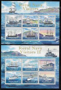 PITCAIRN ISLANDS ROYAL NAVY VISITORS I & II VF MNH