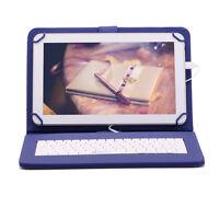 "iRULU Tablet PC 10.1"" Google Android 6.0 HD 8GB White Bundle 10"" Blue Keyboard"