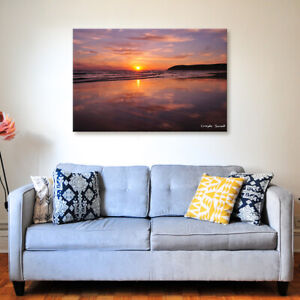 Croyde Sunset - Various Sizes - North Devon Canvas - Ready to Hang