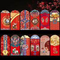 12PCS/Set Chinese New Year Red Envelopes Chinese Red Packets Gift Money Packet
