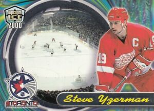 STEVE YZERMAN NO:8 ALL STAR PREVIEW in DYNAGON ICE  2000-01   near mint