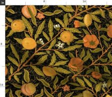 New listing Fruit Citrus Black Victorian Arts Kitchen Home Spoonflower Fabric by the Yard