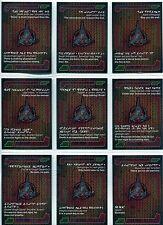 Star Trek Aliens Complete 9 Card The Quotable Klingon Set