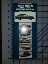 1988 Ford Merkur XR4Ti vs Competition Brochure Folder