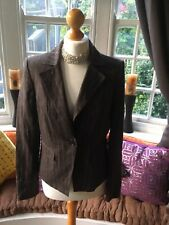 BNWT Ladies Autograph By M&S 97% Linen Brown Pinstripe Lined Jacket UK Size 12