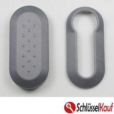 Fiat Autoschlüssel Gehäuse Schale Grau Punto 500 Bravo Dablo Cover Plastik Hülle