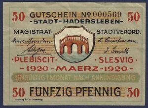 DENMARK  50 PFENNIG 1920  PLEBISCIT