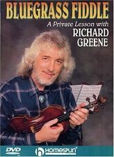 Bluegrass Fiddle A Private Lesson w/ Richard Greene (DVD 2004) w/ Music booklet